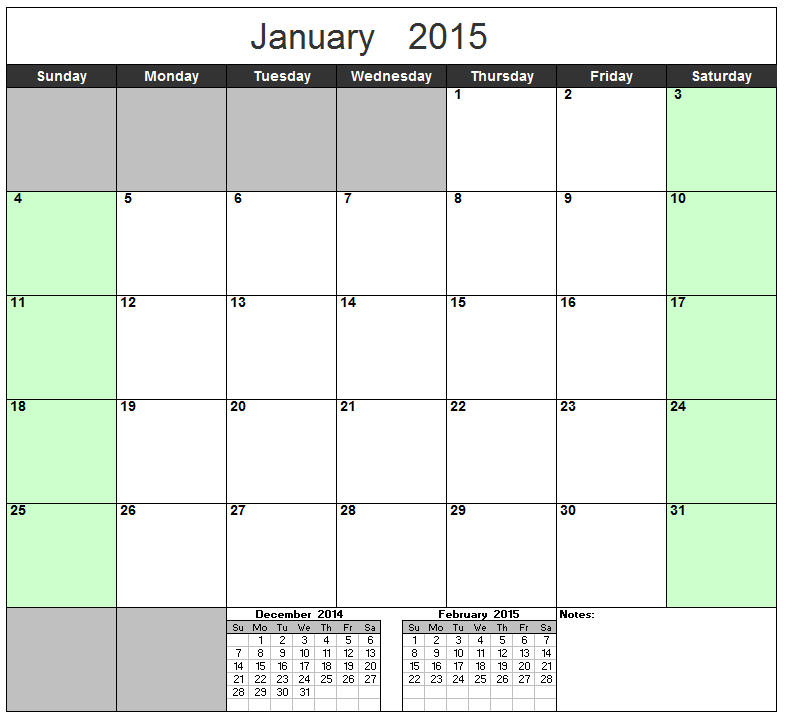 free excel calendar template yearly monthly 2015 2016 2017 etc